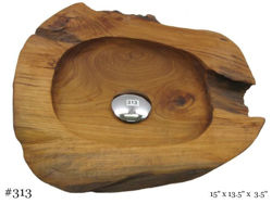 Picture of Teak Wood Vessel Sink - Freeform