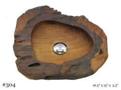 Teak Wood Vessel Sink - Triangular