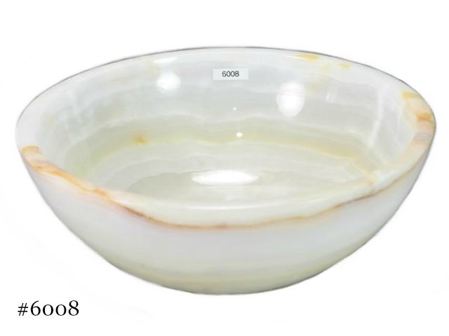 Picture of SoLuna White Onyx Flat Rim Vessel