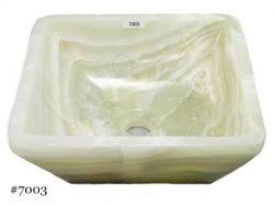 Picture of SoLuna White Onyx Square Vessel Sink