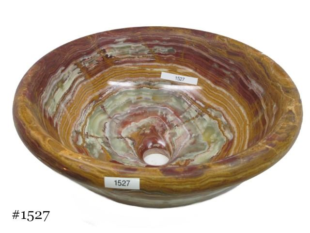Picture of SoLuna Brown Round Onyx Basin Round Rim - Sale