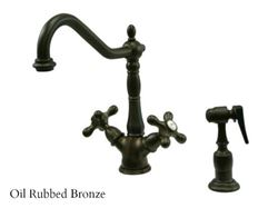 Picture of Kingston Brass Heritage Deck Mount Kitchen Faucet with Side Spray