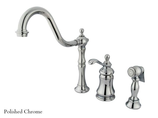 Picture of Kingston Brass Templeton Single Handle Kitchen Faucet with Spray
