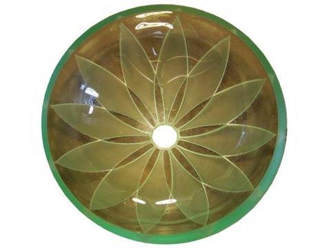 Double Pinwheel Glass Sink