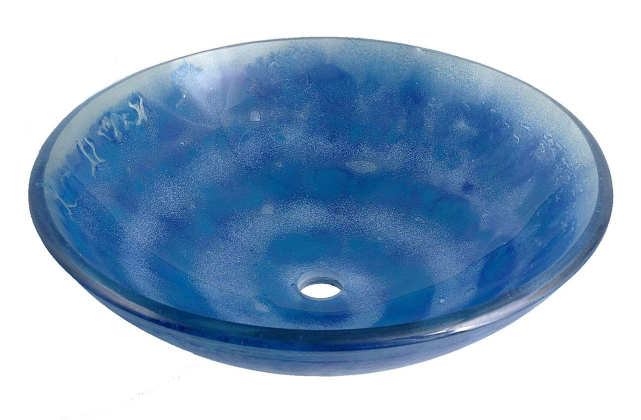 Picture of Blue Spiral Glass Sink