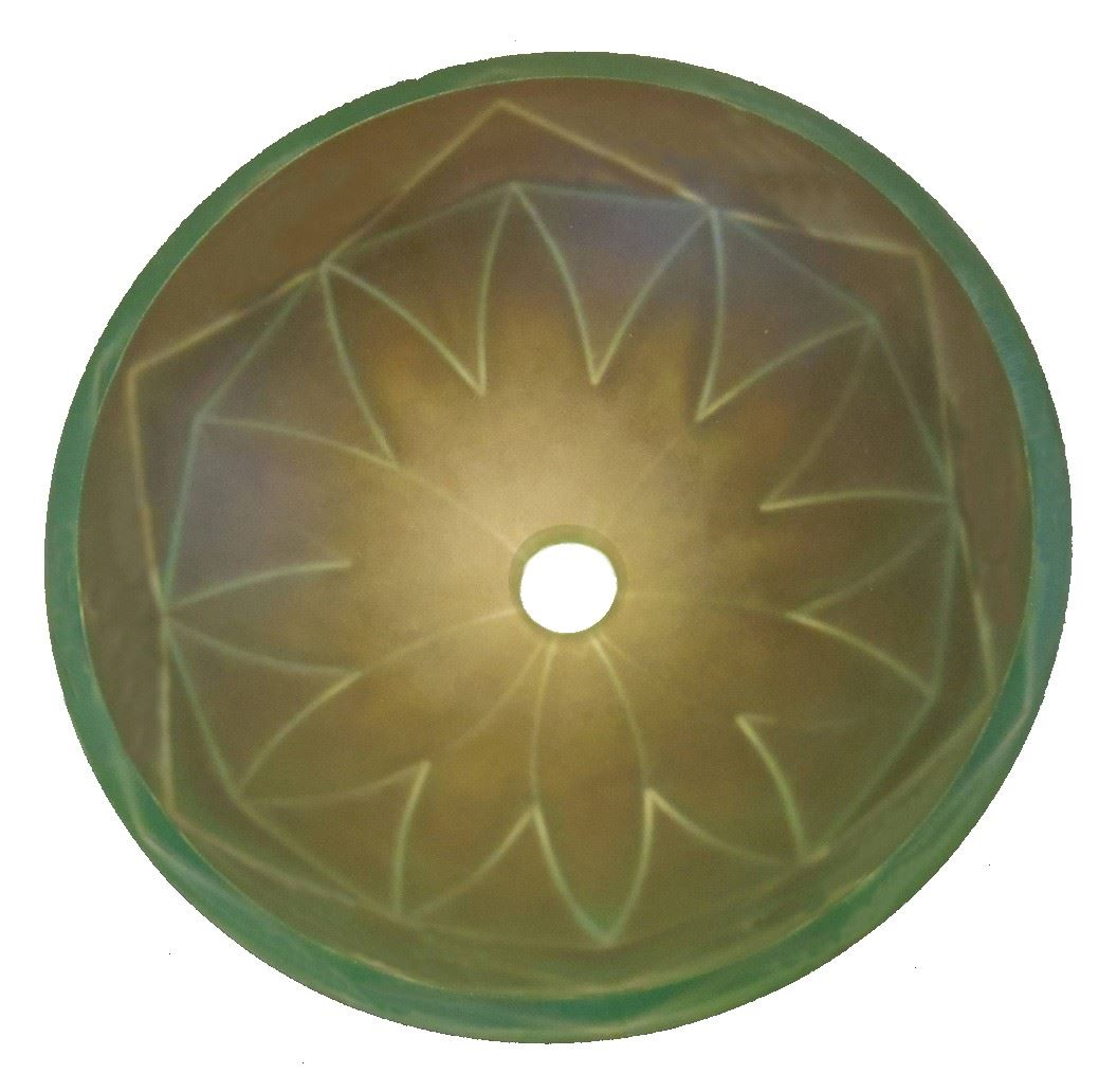 Picture of Pinwheel Glass Sink - with Geometric Features
