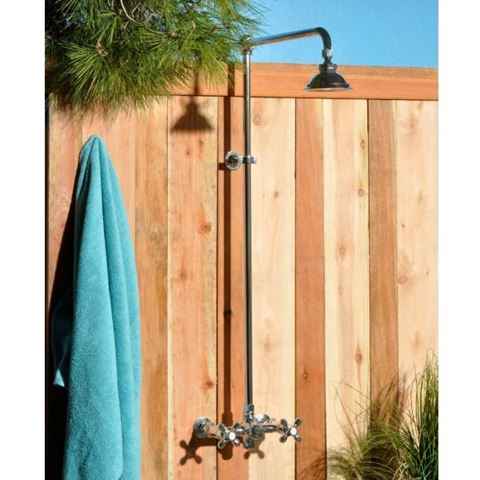 Strom Plumbing Wall-Mounted Outdoor Shower System