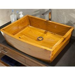 Teak Wood Bath Sink by Solli Concepts - T2