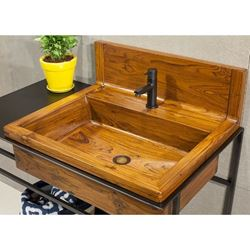 Bathroom Sink - Teak Wood with Vanity Option
