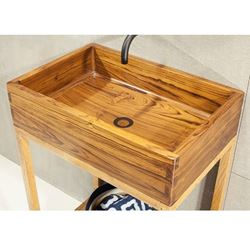 Picture of Teak Wood Bath Sink by Solli Concepts - T5 with Vanity Option