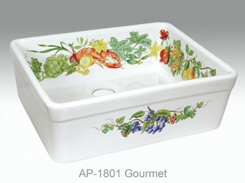 Gourmet Design on Single Bowl Fireclay Kitchen Sink