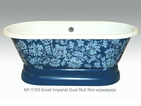Fiore Design on Small Imperial Dual Roll Rim Bath Tub