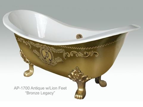 Bronze Legacy Design on Antique Ceramic Bath Tub