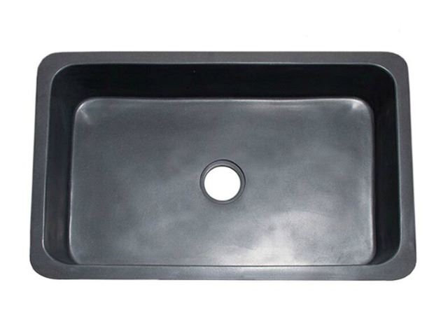 "Picture of 33"" Black Lava Single Well Farmhouse Sink"