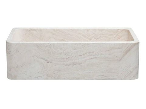 "36"" Travertine Stone Farmhouse Kitchen Sink"
