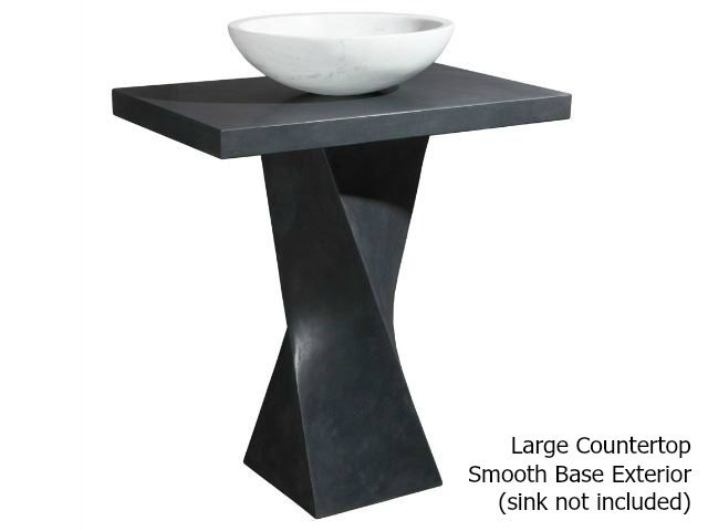Picture of Helical Pedestal - Black Lava