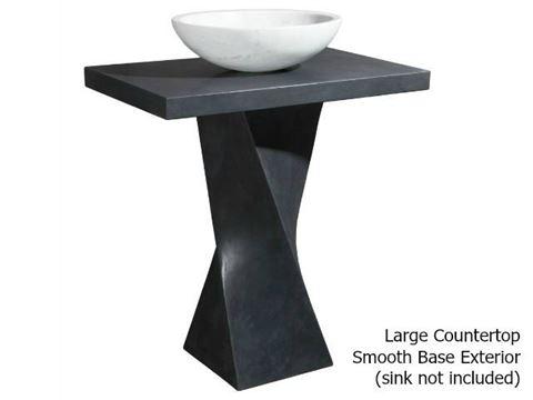 Helical Pedestal - Black Lava