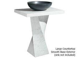 Helical Pedestal - Carrara White Marble