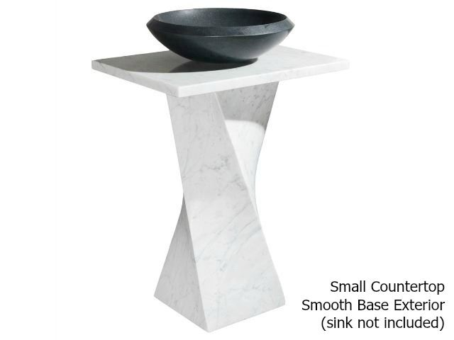Picture of Helical Pedestal - Carrara White Marble