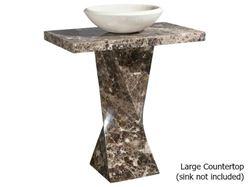 Helical Pedestal - Emperador Dark Marble