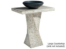 Picture of Helical Pedestal - San Cecilia Granite