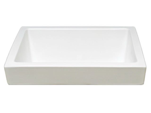 "Picture of Marzi 16"" Rectangle Half-Exposed Drop-In Ceramic Sink"