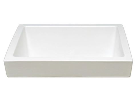 "Marzi 16"" Rectangle Half-Exposed Drop-In Ceramic Sink"