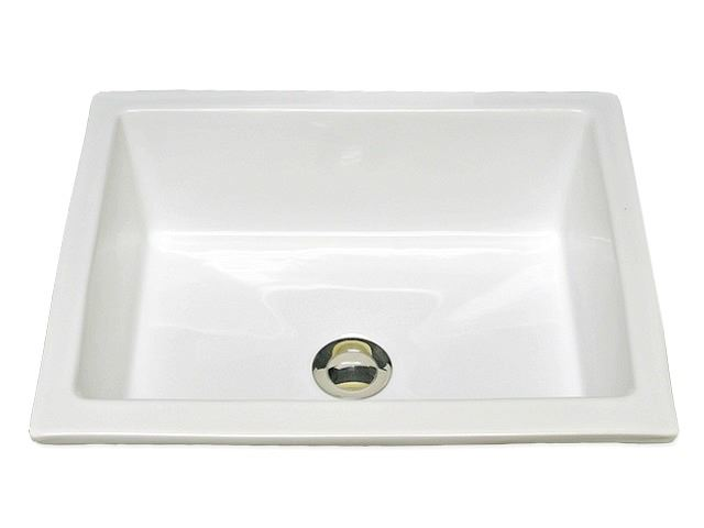 "Picture of Marzi 16"" Rectangle Undermount Ceramic Sink with Flat Bottom"
