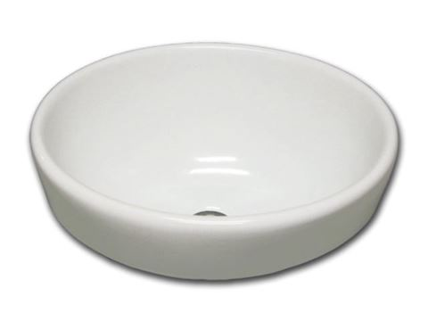 "Marzi 16"" Oval Half-Exposed Drop-in Ceramic Sink"