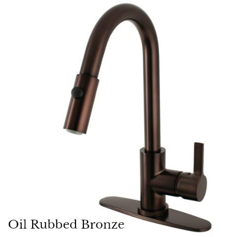 Picture of Kingston Brass Continental Single Handle Pull-Down Kitchen Faucet