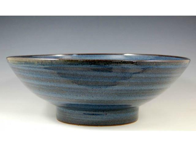 Picture of Delta Ceramic Vessel Sink in Vibrant Broken Blue