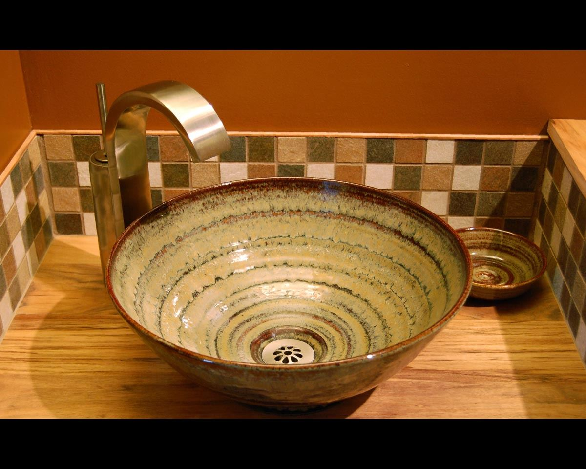 Picture of Delta Ceramic Vessel Sink in Carnival