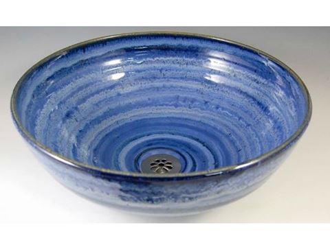 Delta Ceramic Vessel Sink in Sky Blue