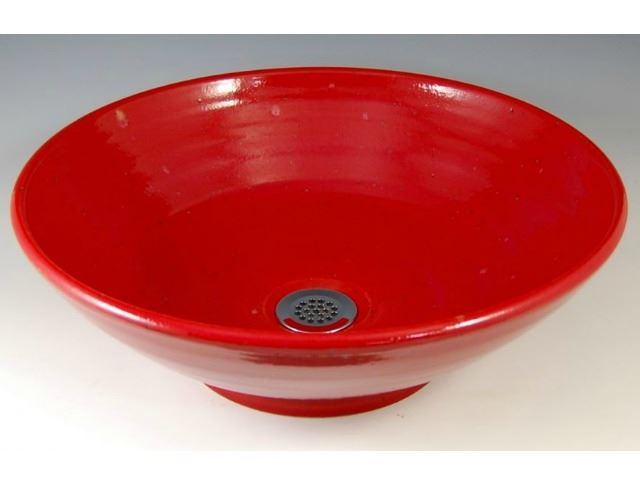 Picture of Delta Ceramic Vessel Sink in Torch Red