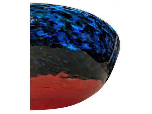 Blown Glass Sink | Blue Caliente III