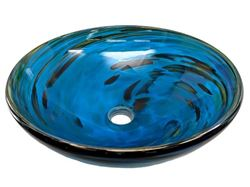 Picture of Blown Glass Sink - Marine Vortex II