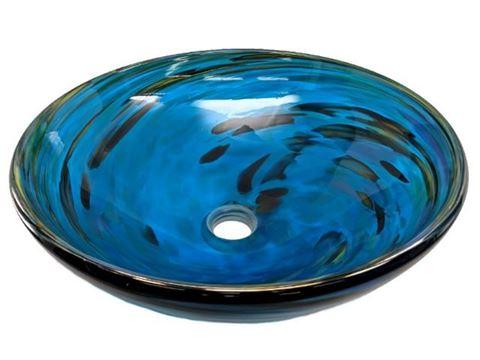 Blown Glass Sink - Marine Vortex II