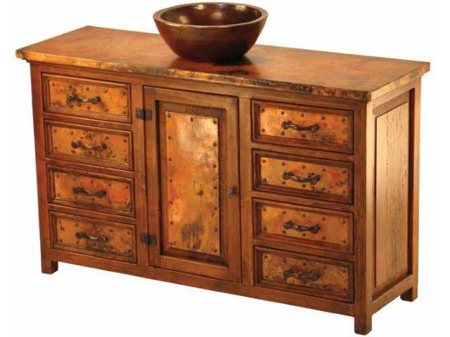 Picture of Sierra Ventura Wood and Copper Vanity
