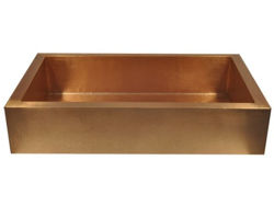 """Picture of 42"""" Copper Farmhouse Sink by SoLuna"""