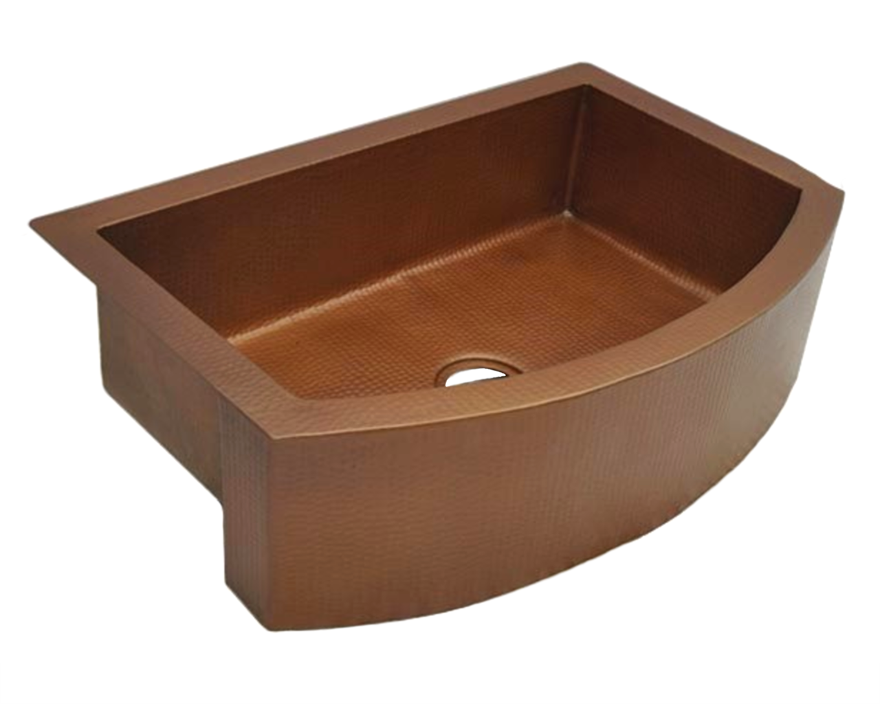 """Picture of 36"""" Round Front Copper Farmhouse Sink by SoLuna"""