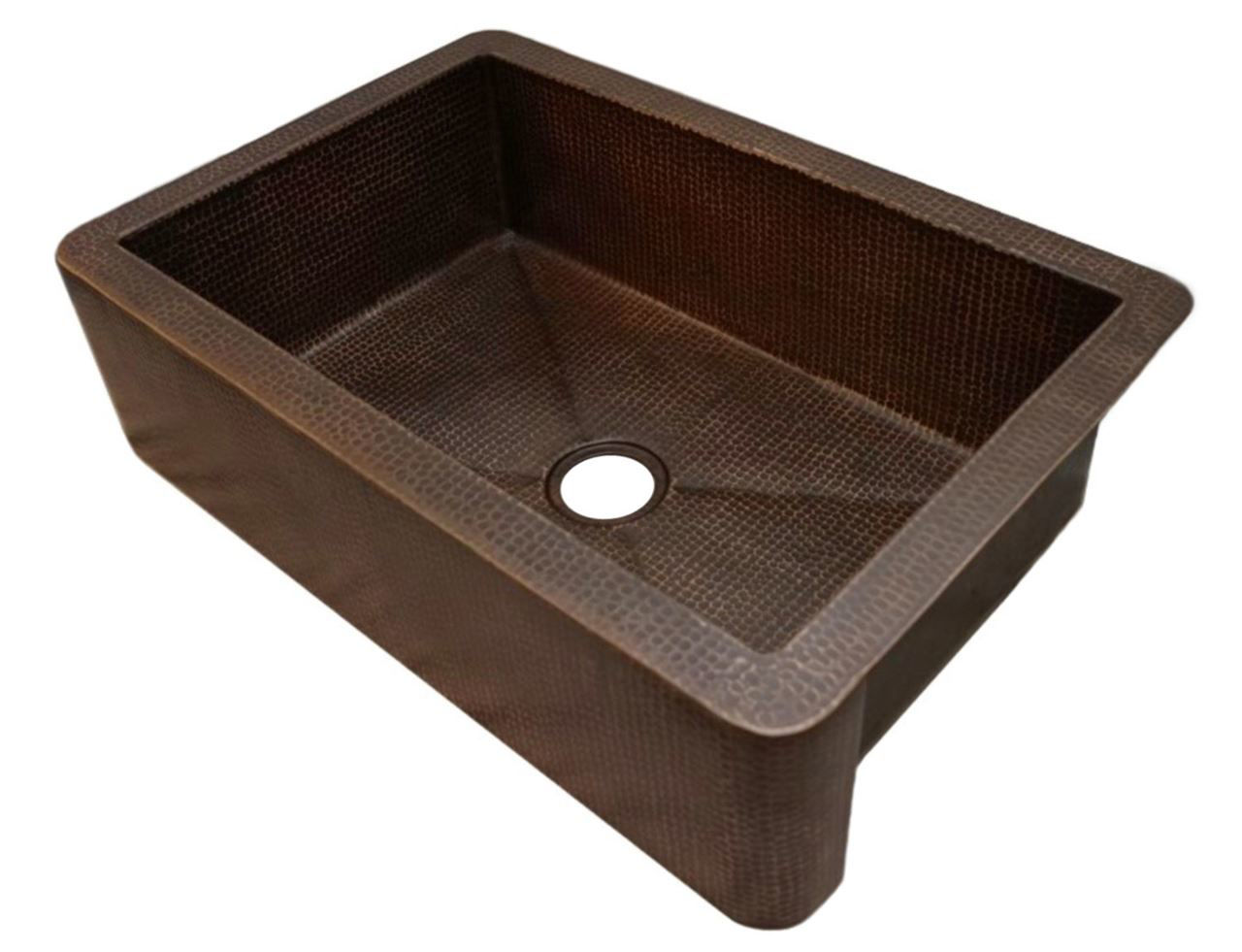 "Picture of 33"" Fernanda Copper Farmhouse Sink by SoLuna"