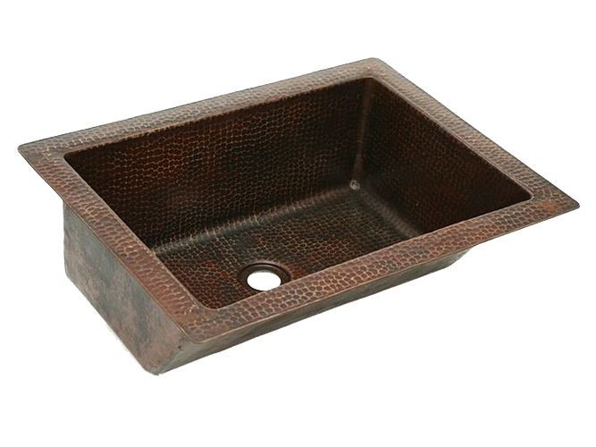 """Picture of 20"""" Angled Wall Copper Bathroom Sink by SoLuna - SALE"""