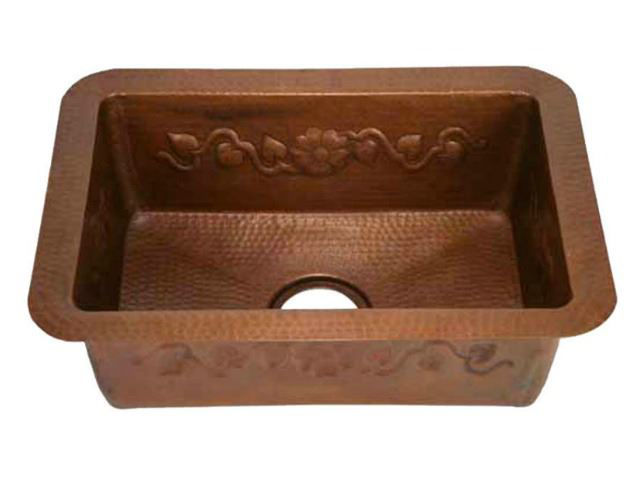 Picture of Copper Kitchen Sink - Floral Vine by SoLuna