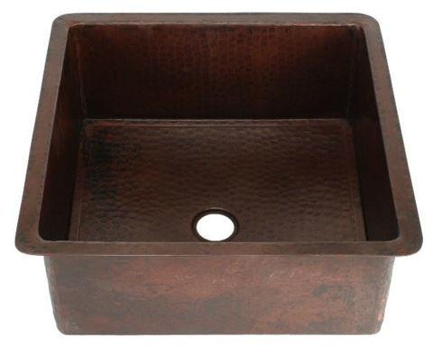 "15"" Square Copper Bar Sink by SoLuna"