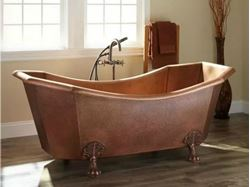 Picture of Square Clawfoot Copper Bathtub by SoLuna
