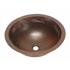 """17"""" Round Copper Bathroom Sink - Pescado with Flat Rim by SoLuna"""