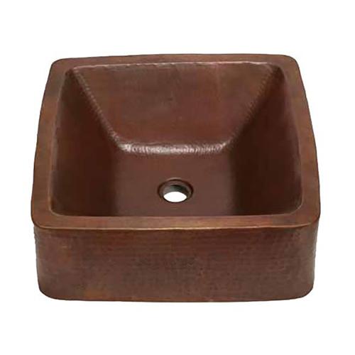 "Picture of 17"" Cubeta Copper Vessel Sink by SoLuna"