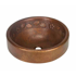 """Picture of 17"""" Prescenio Copper Vessel Sink - Floral by SoLuna"""