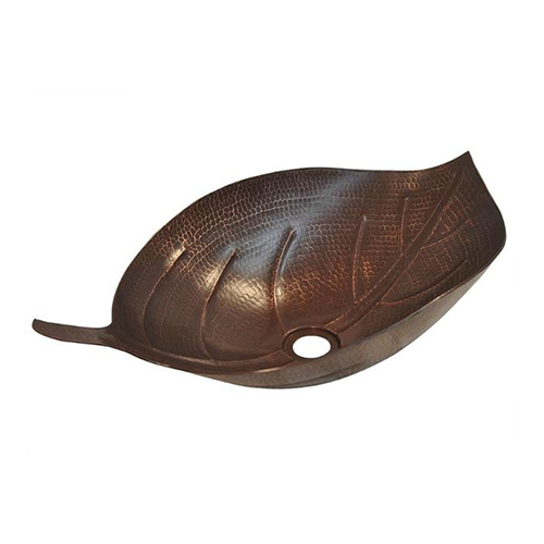 Picture of Autumn Leaf Copper Vessel Sink by SoLuna