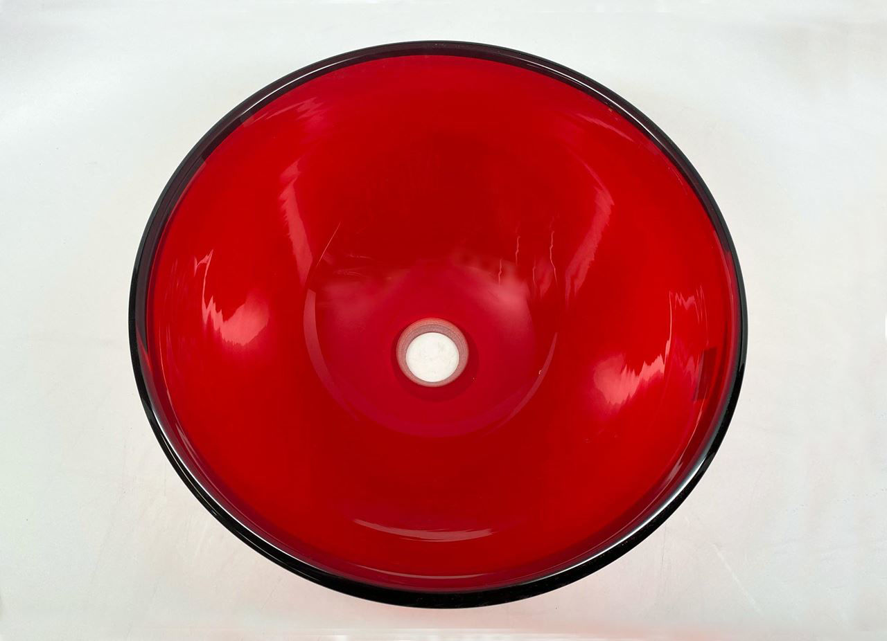 Blown Glass Sink | Ruby Red